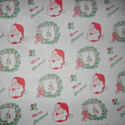 Vintage Department Store Santa Christmas Paper Roll