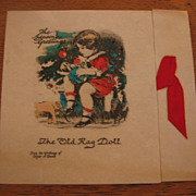 REDUCED Vintage Rag Doll Buzza Christmas Card