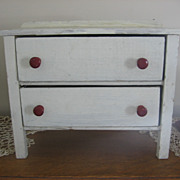 SALE 1940s Wooden Toy Chest of Drawers White Dresser