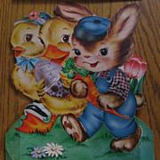 2 Adorable Large Vintage Easter Cards