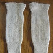 REDUCED Unusual Victorian Wool Baby Spat Leggings Knit Stockings