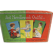 SALE Vintage Childs Art Needlework Outfit in Original Box