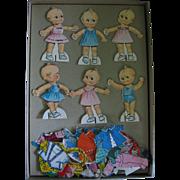 Vintage Kewpie Doll Paper Dolls 1963