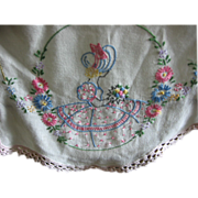 Embroidered Southern Belle Dresser Scarf