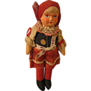 REDUCED Czech Made Jointed Cloth Doll 1920s-30s