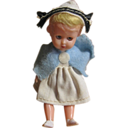 Vintage Miniature Jointed Nurse Doll Made in Italy