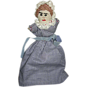 SALE Topsy Turvy Handmade Doll Mid Century
