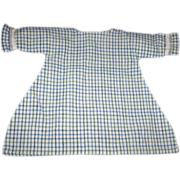 SALE Blue White and Green Checked Doll Dress