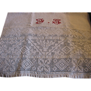 Antique Open Weave Show Towel