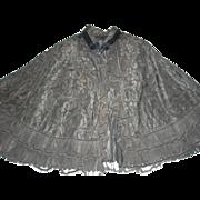 Victorian Black Cape for Re-Enactments