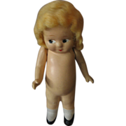 Compositon Bashful Kewpie Doll 1930s 40s Era