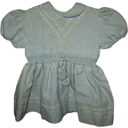 Darling Blue Baby Dress with Pom Pom Ties