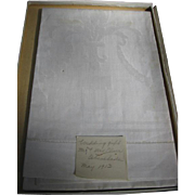 Early 1900s Wedding Gift Towels in Original Box