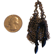 Miniature Metal Chain Link Doll Purse