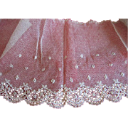 SALE PENDING Sheer Net Lace with Delicate Trim