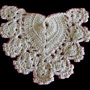 Heart Shaped Crocheted Trim for Doll Dress or Bonnet