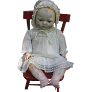 1924 EIH Horsman Tynie Composition and Cloth Baby Doll with Original Dress