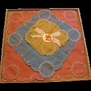 Beautiful Swiss Style Embroidered Hankies in Original Dickens Era Box