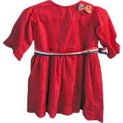 Special Red Dress for Baby or Large Antique Doll