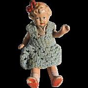 SALE Vintage Germany Made Dollhouse Doll
