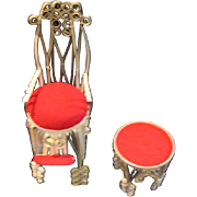 Victorian Style Folk Art Doll Furniture