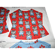 Vintage Doll Dress Pattern with Kittens