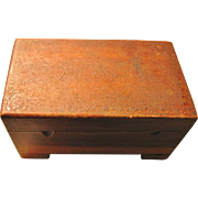 Miniature Wooden Chest for Dolls