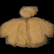 Doll's White Fur Jacket and Tam O Shanter