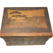 Miniature Trunk with Hidden Lock Puzzle Chest
