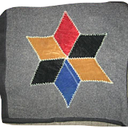 Amish Wool and Velvet Star Pillow Cover