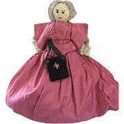 Folk Art Cloth Doll 19th Century Church Doll