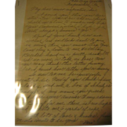 Leap Year Proposal Letter Handwritten 1930s