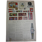 Toys for Boys Magazine Tear Sheet 1950s Guns Space and More