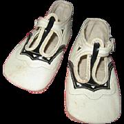Art Deco Era Baby Shoes with Original Shoebox