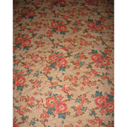 Floral Fabric Old Comforter or Quilt Backing