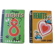 Miniature Playing Cards Hearts and Crazy Eights