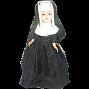 Vintage Hard Plastic Nun Doll