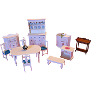 Original Artist Designed and Handmade Dollhouse Furniture by Maine Artisan One of a Kind Piece