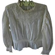 Antique Childs Blouse with Pintucking and Lace