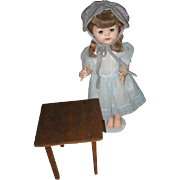 Vintage Wood Doll Size Toy Table