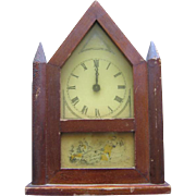 Miniature Gothic Steeple Style Clock for Doll Display