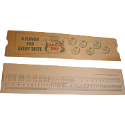 Vintage Canada Dry Advertising Calculator Slide Rule