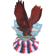 Patriotic Diecut Eagle Honeycomb Decoration