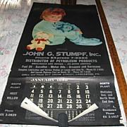 SALE Lancaster Pa Advertising Calendar Sleepy Time Gal Large 1959 Calendar with Sleepy Child