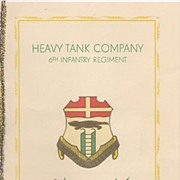 REDUCED Rare Military Christmas Card Berlin 1952 Heavy Tank Co & Names