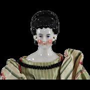 SALE China Head Lady Doll Fancy Hairstyle Pierced Ears Cabinet Size