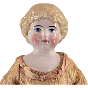 SALE Kling China Head Doll Blond Hair Nicely Dressed