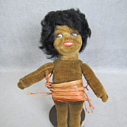 "REDUCED Norah Wellings Cloth Doll Black Islander 8"" All Original Provenance"
