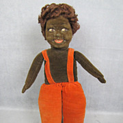 "REDUCED Norah Wellings Cloth Doll Black Islander 14"" All Original"