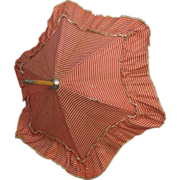 REDUCED Antique Doll Parasol Original Silk Covering Working Mechanism